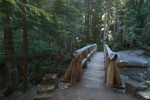 Photo of a foot bridge.
