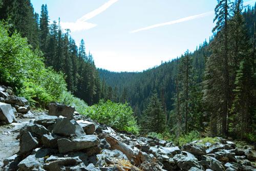 Photo of a glacial valley.