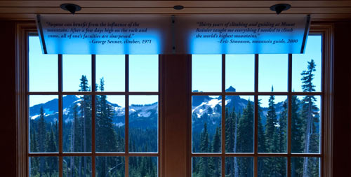 Photo of a view from the windows of the visitor center.